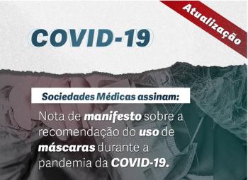 Sociedades Médicas assinam manifesto sobre o uso de máscaras.