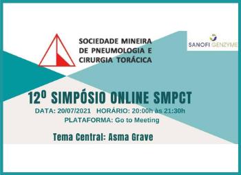 SMPCT realizará seu 12º Simpósio On-line. O tema será Asma Grave